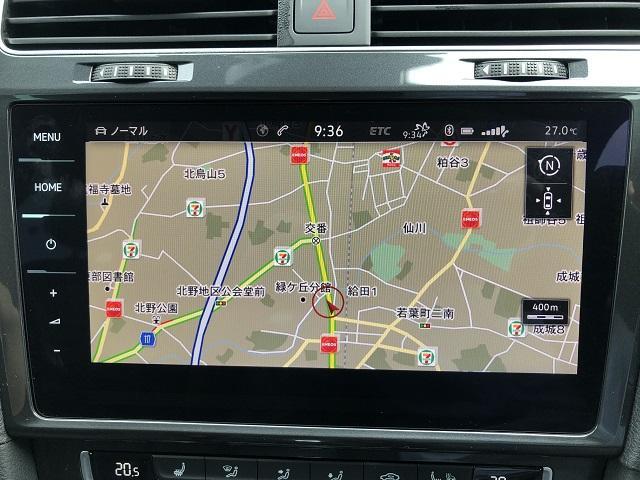 VW純正ナビのDiscoverProを装備!地デジ、Bluetooth、ミュージックキャッチャー機能など多彩な機能を有しています。