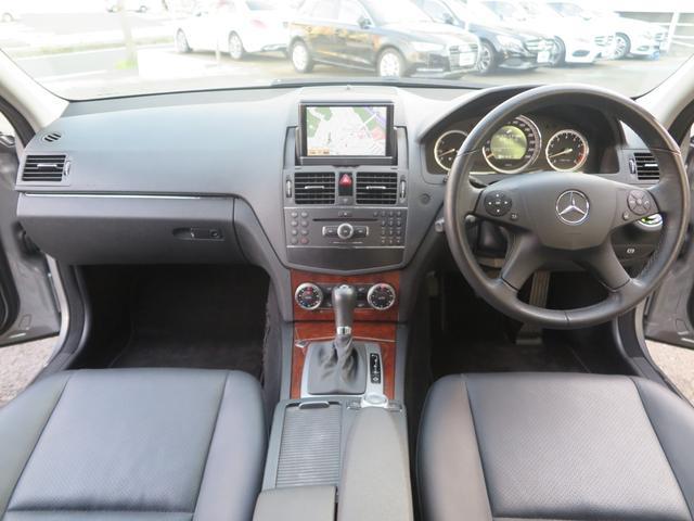 C200コンプレッサー エレガンスデビューP 限定車 下取車 社外革シート セミPシート 純正HDDナビ コマンドシステム DVD再生 CD MSV ETC 純正17インチアルミ バイキセノンライト LEDテール 2008yモデル(4枚目)