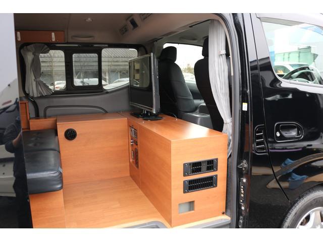 ロングプレミアムGXクロムギアパックバージョンブラック 2000ガソリン 2WD オグショー社制作ベッドキット ベバストFFヒーター サブバッテリー ソーラー充電 冷蔵庫 車中泊(24枚目)