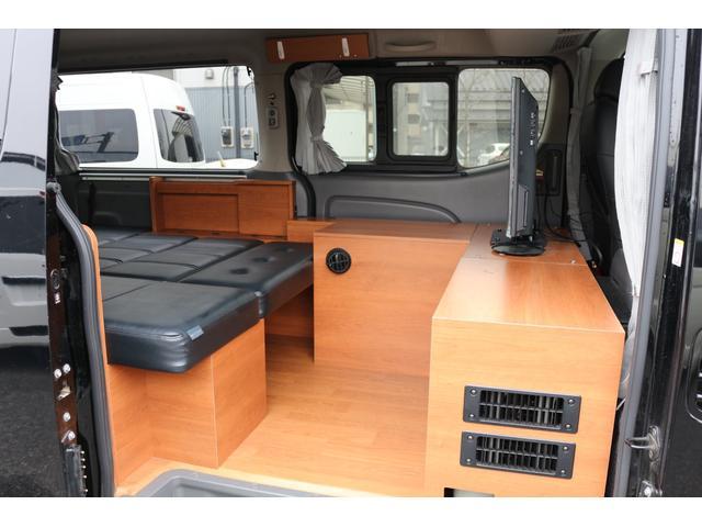 ロングプレミアムGXクロムギアパックバージョンブラック 2000ガソリン 2WD オグショー社制作ベッドキット ベバストFFヒーター サブバッテリー ソーラー充電 冷蔵庫 車中泊(25枚目)