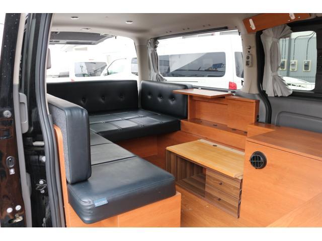 ロングプレミアムGXクロムギアパックバージョンブラック 2000ガソリン 2WD オグショー社制作ベッドキット ベバストFFヒーター サブバッテリー ソーラー充電 冷蔵庫 車中泊(27枚目)