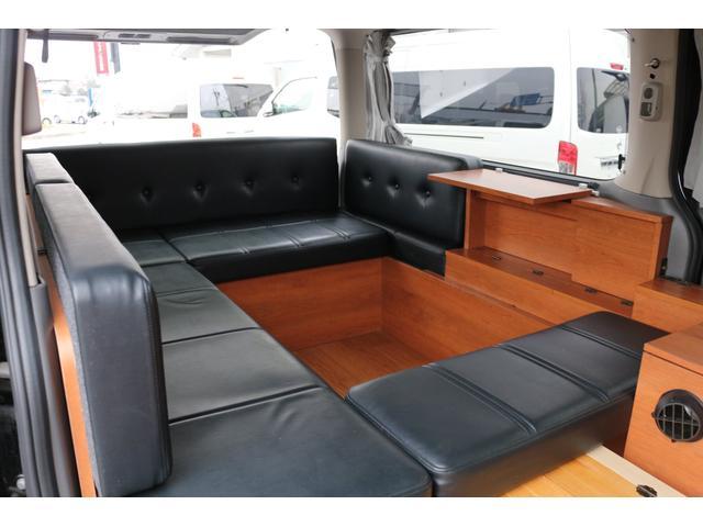 ロングプレミアムGXクロムギアパックバージョンブラック 2000ガソリン 2WD オグショー社制作ベッドキット ベバストFFヒーター サブバッテリー ソーラー充電 冷蔵庫 車中泊(28枚目)