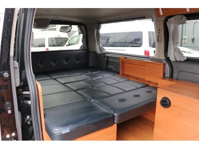 ロングプレミアムGXクロムギアパックバージョンブラック 2000ガソリン 2WD オグショー社制作ベッドキット ベバストFFヒーター サブバッテリー ソーラー充電 冷蔵庫 車中泊(34枚目)