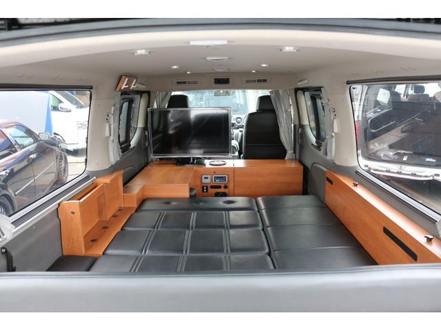 ロングプレミアムGXクロムギアパックバージョンブラック 2000ガソリン 2WD オグショー社制作ベッドキット ベバストFFヒーター サブバッテリー ソーラー充電 冷蔵庫 車中泊(35枚目)