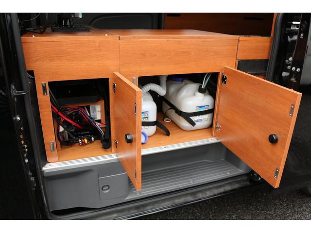 ロングプレミアムGXクロムギアパックバージョンブラック 2000ガソリン 2WD オグショー社制作ベッドキット ベバストFFヒーター サブバッテリー ソーラー充電 冷蔵庫 車中泊(47枚目)