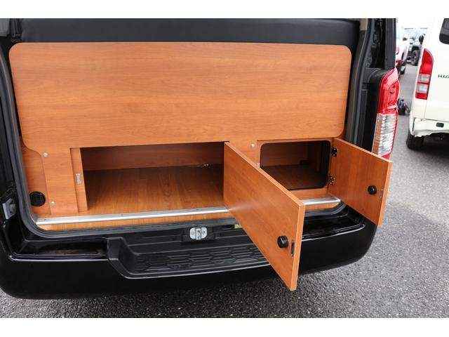 ロングプレミアムGXクロムギアパックバージョンブラック 2000ガソリン 2WD オグショー社制作ベッドキット ベバストFFヒーター サブバッテリー ソーラー充電 冷蔵庫 車中泊(48枚目)