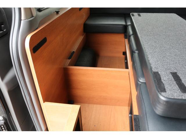 ロングプレミアムGXクロムギアパックバージョンブラック 2000ガソリン 2WD オグショー社制作ベッドキット ベバストFFヒーター サブバッテリー ソーラー充電 冷蔵庫 車中泊(49枚目)