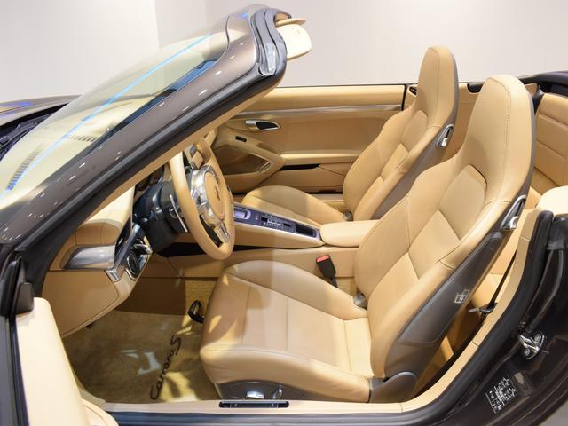 911カレラS カブリオレ EU新並 2014MY スポーツクロノ スポーツエグゾースト 20inクラシックホイール エントリーアンドドライブ シートヒーター ベンチレーション レザーインテリア スポーツシートプラス 電格ミラー(13枚目)