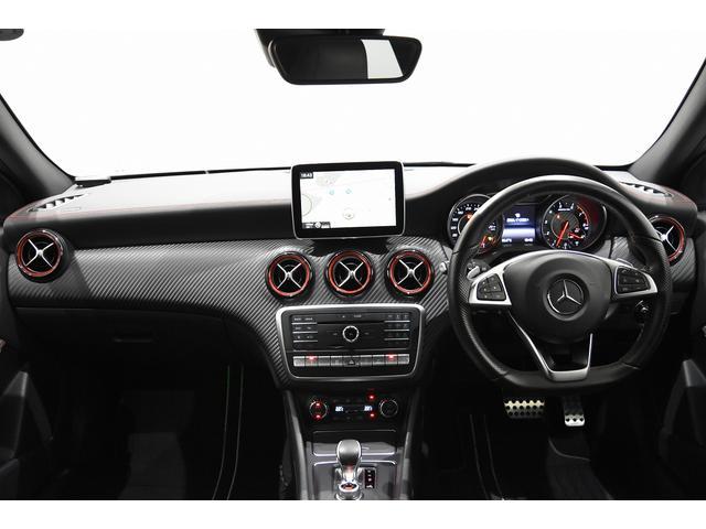 A45 4マチック RSP 純正ナビTV Bカメラ 黒革 Frシートヒーター ディストロニックプラス BSA パドルシフト LEDヘッドライト AMG19インチAW(6枚目)