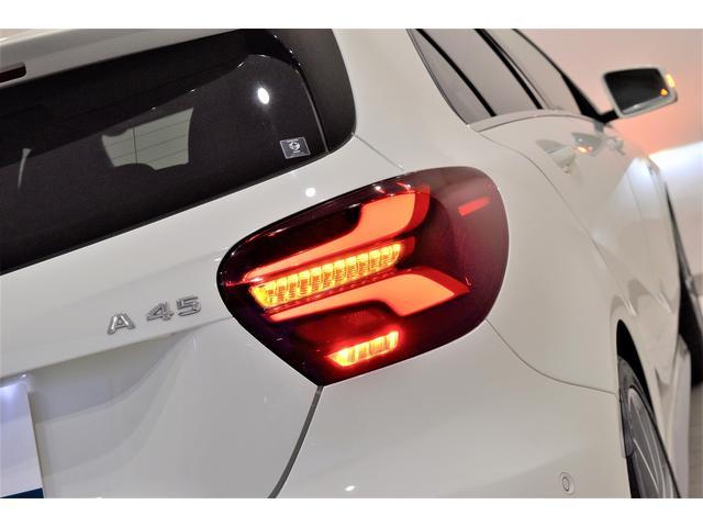 A45 4マチック RSP 純正ナビTV Bカメラ 黒革 Frシートヒーター ディストロニックプラス BSA パドルシフト LEDヘッドライト AMG19インチAW(19枚目)