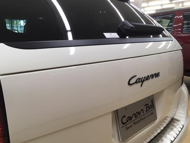 ポルシェ ポルシェ カイエン V6 黒本革 サンルーフ HID 正規物 最終型 認証整備付