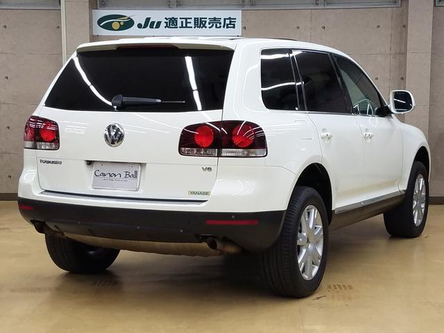 フォルクスワーゲン VW トゥアレグ V6 サンルーフ 黒本革シート HDDナビBカメラ 整備付