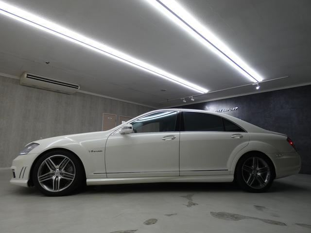 S63 AMGロング SR 黒革 TV Bカメ ナイトビュー(6枚目)
