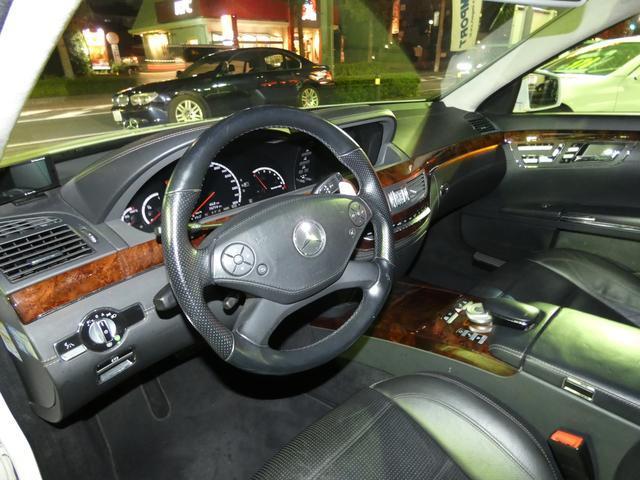 S63 AMGロング SR 黒革 TV Bカメ ナイトビュー(7枚目)