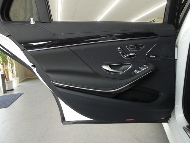 S400d 4マチックロング AMGラインプラス ショーファーPKG 後期 Mケア 左H 黒革 シートヒーター・ベンチレーター パノラマSR レーダーセーフティ 純正ナビ TV CD 360度カメラ Burmester HUD パワーテールゲート(39枚目)