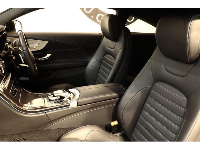 C43AMG 4Mクーペ レザーEXC 黒本革 新車保証付(16枚目)