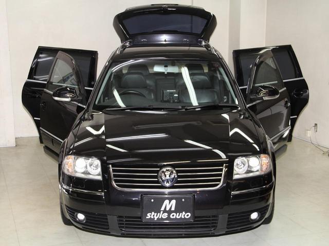 フォルクスワーゲン VW パサートワゴン V6 4モーション 本革シート 禁煙 記録簿 スタッド付き