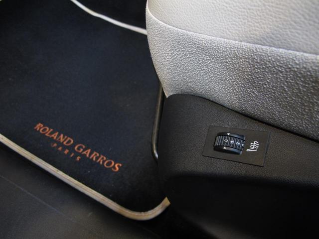 ロラン ギャロス 国内100台限定車 専用レザーシート シートヒーター 純正ナビTV バックカメラ  禁煙車 ガラスルーフ  Bluetooth 専用刺繍インテリア バックソナー パドル付セミAT 純正16インチAW(37枚目)