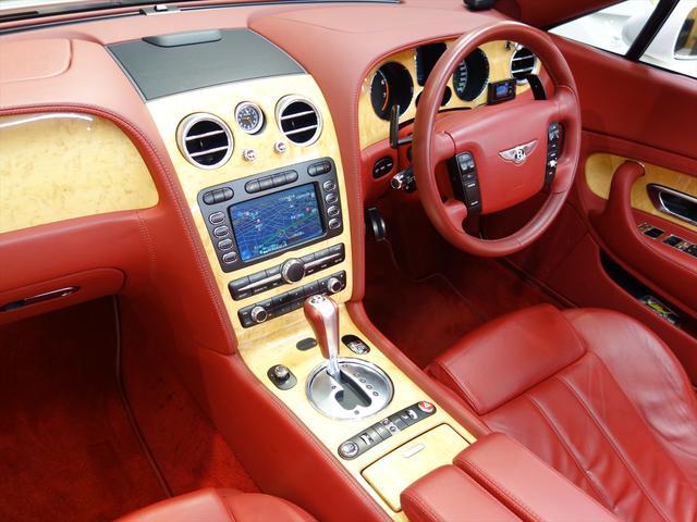 ベントレー ベントレー コンチネンタル GTC レッドレザー 純正ナビ 右ハンドル ディーラー車