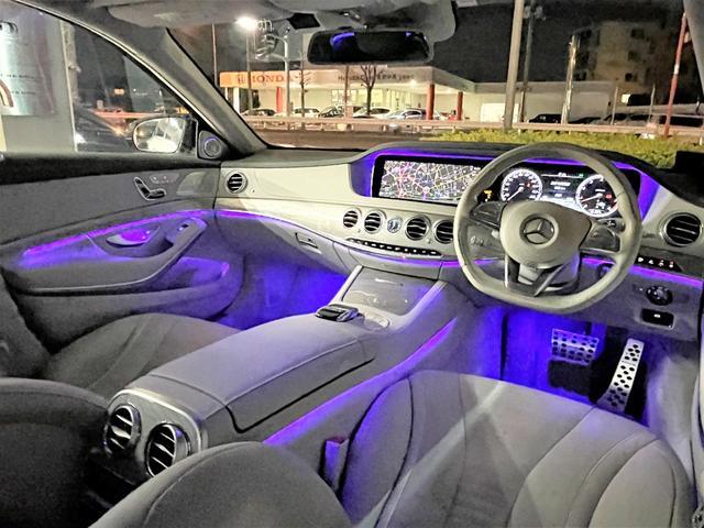 S550ロング デジーノウッド 白革内装 ショーファーP 後期ライト(11枚目)