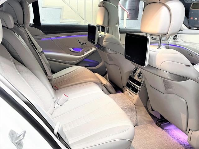 S550ロング デジーノウッド 白革内装 ショーファーP 後期ライト(14枚目)