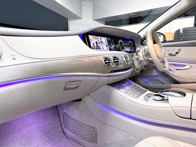 S550ロング デジーノウッド 白革内装 ショーファーP 後期ライト(16枚目)