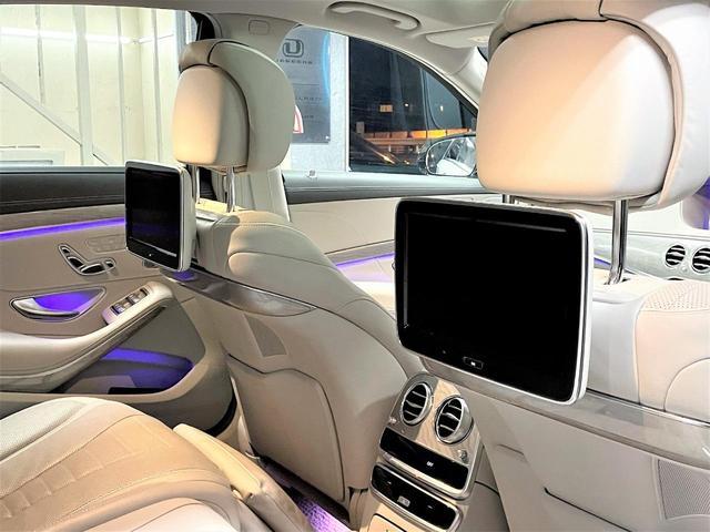 S550ロング デジーノウッド 白革内装 ショーファーP 後期ライト(17枚目)