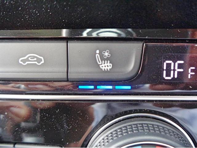 シートヒーター、シートクーラーの温度調節は3段階で調整可能です。
