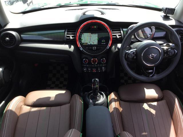クーパーS 60イヤーズエディション 17AW 60周年限定車 前車追従クルコン 茶革スポーツシート LEDヘッドライト コンフォートアクセス シートヒーター バックカメラ 前後センサー パドルシフト インテリジェントセーフティ(9枚目)