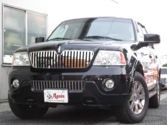 2003年日本国内登録車輛、オートチェック付き 黒革 禁煙、4WD、に地デジHDDナビ、Bカメラ、フリップダウンモニター連動、と装備充実車輌が驚きの車輌価格でご案内!!