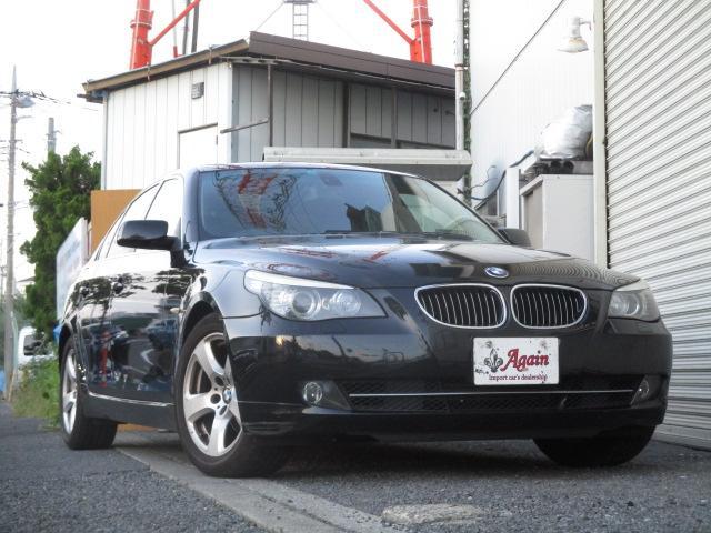525iハイラインパッケージ 後期 サンルーフ 黒革 HDDナビ CD スマートキーレス クルーズコントロール ETC シートヒーター パワーシート HID 17AW(7枚目)