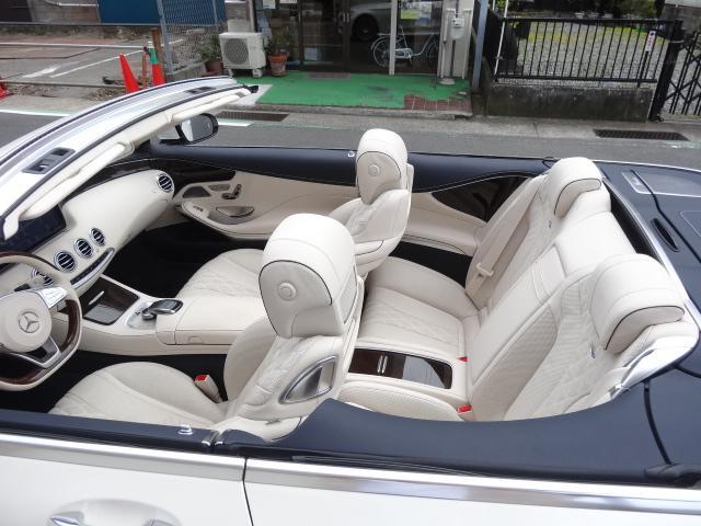S550 カブリオレAMGPKG青幌白デジーノレザーシート(2枚目)