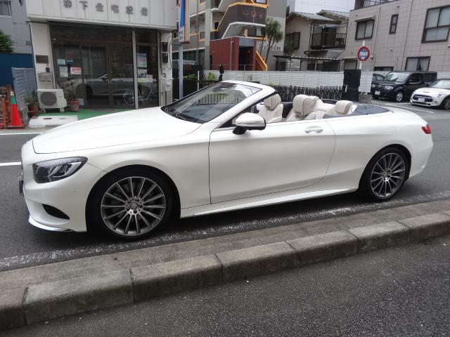 S550 カブリオレAMGPKG青幌白デジーノレザーシート(17枚目)