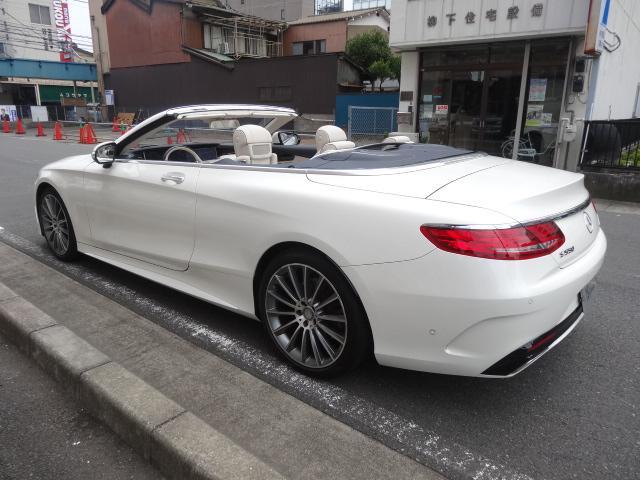 S550 カブリオレAMGPKG青幌白デジーノレザーシート(18枚目)