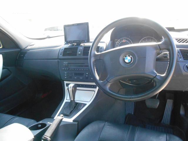 BMW BMW X3 2.5i ブラックレザー HDDナビ バックカメラ