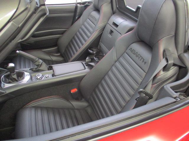 アバルト アバルト124 スパイダー レザーシート&ナビP Bカメラ シートH 新車保証継承