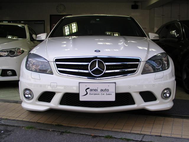 C63 AMG スマートキーSR 黒革 純正ナビテレビ 禁煙(2枚目)