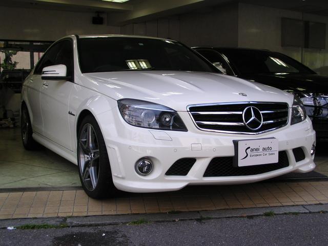 C63 AMG スマートキーSR 黒革 純正ナビテレビ 禁煙(6枚目)