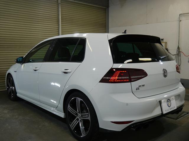 フォルクスワーゲン VW ゴルフR 黒革 エアロ18AW 追従ACC ナビTV DCC 2年保証