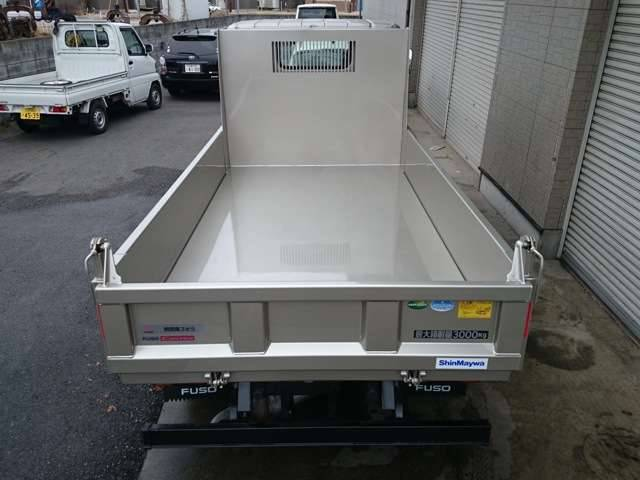 三菱ふそう キャンター 3t低床強化ダンプ フォグ 電格M EZGO
