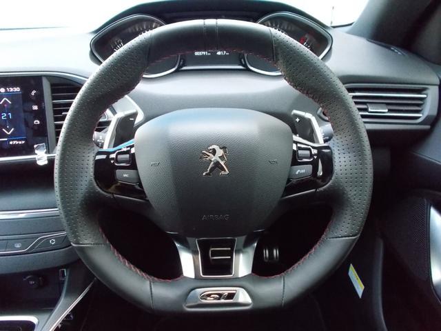 SW GT ブルーHDi 純正ナビ・ETC・ドライブレコーダー装着 アクティブクルーズコントロール パークアシスト レッドステッチ・テップレザー/アルカンタラスポーツシート・インテリア・ステアリング 新車保証継承(22枚目)