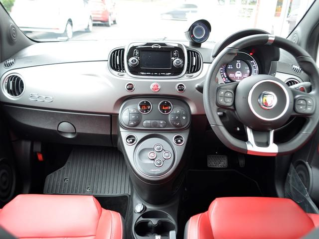 アバルト アバルト アバルト595 ツーリズモ レッドレザー 1オーナー 新車保証継承 現行型