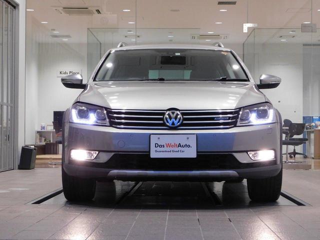 フォルクスワーゲン VW パサートオールトラック 2.0TSI 4WD 茶レザー クルコン 純ナビ 認定中古車