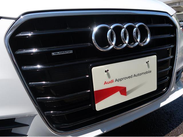 Audi車の象徴であるシングルフレームグリル。周囲に存在感を発揮します。
