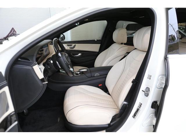 S450エクスクルーシブ AMGライン ダイヤモンドホワイト 白レザーシート 左ハンドル 20インチAMG10スポークアルミ シートベンチレーター(6枚目)