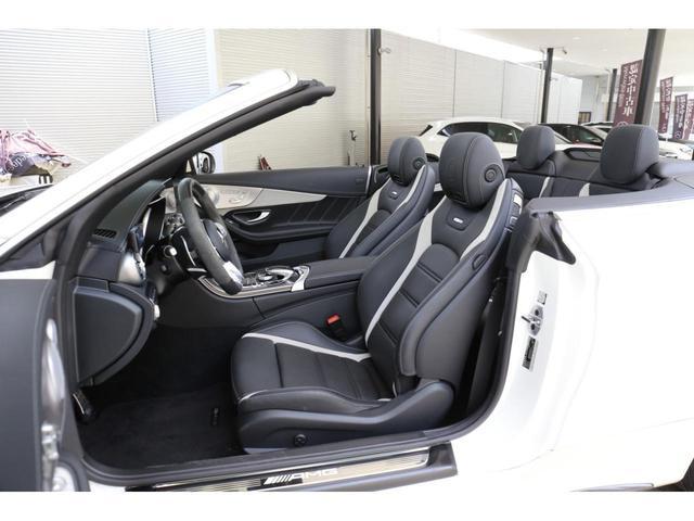 C63 Sカブリオレ 認定中古車 黒幌 レーダーセーフティパッケージ AMGカーボンパッケージ ヘッドアップディスプレイ Burmesterサラウンドサウンドシステム(10枚目)