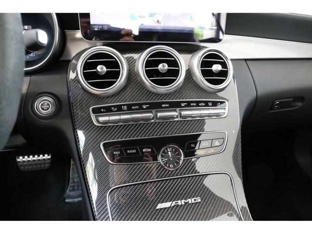 C63 Sカブリオレ 認定中古車 黒幌 レーダーセーフティパッケージ AMGカーボンパッケージ ヘッドアップディスプレイ Burmesterサラウンドサウンドシステム(21枚目)