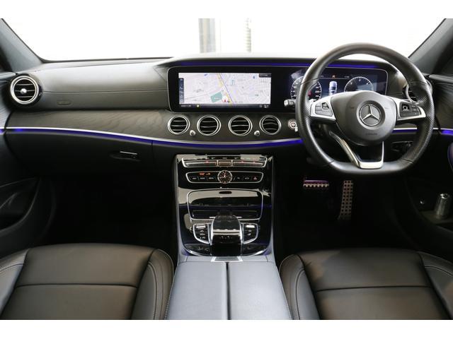 E220dステションワゴンアバンGスポツ(本革仕様) 本革シート(ナッパレザー) レーダーセーフティパッケージ 360°カメラ シートヒーター AMGスタイリングパッケージ エアバランスパッケージ 64色アンビエントライト 認定中古車 禁煙車(5枚目)