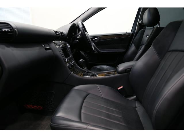 C55 AMG 後期型 右ハンドル 正規ディーラー整備記録11枚 オリジナル 18インチアルミ サンルーフ ブラックレザー シートヒーター ナビ パワーシート プライバシーガラス(10枚目)
