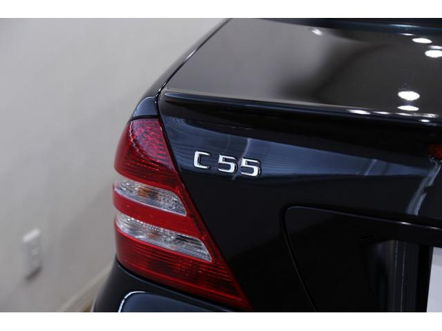 C55 AMG 後期型 右ハンドル 正規ディーラー整備記録11枚 オリジナル 18インチアルミ サンルーフ ブラックレザー シートヒーター ナビ パワーシート プライバシーガラス(57枚目)